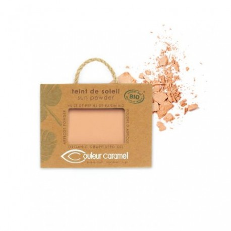 COULEUR CARAMEL Słoneczny puder, Pearly golden beige 22